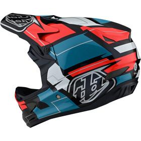 Troy Lee Designs D3 Fiberlite Casco, Multicolor/rojo